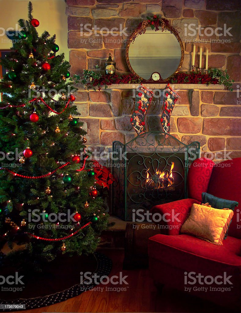 Christmas room royalty-free stock photo