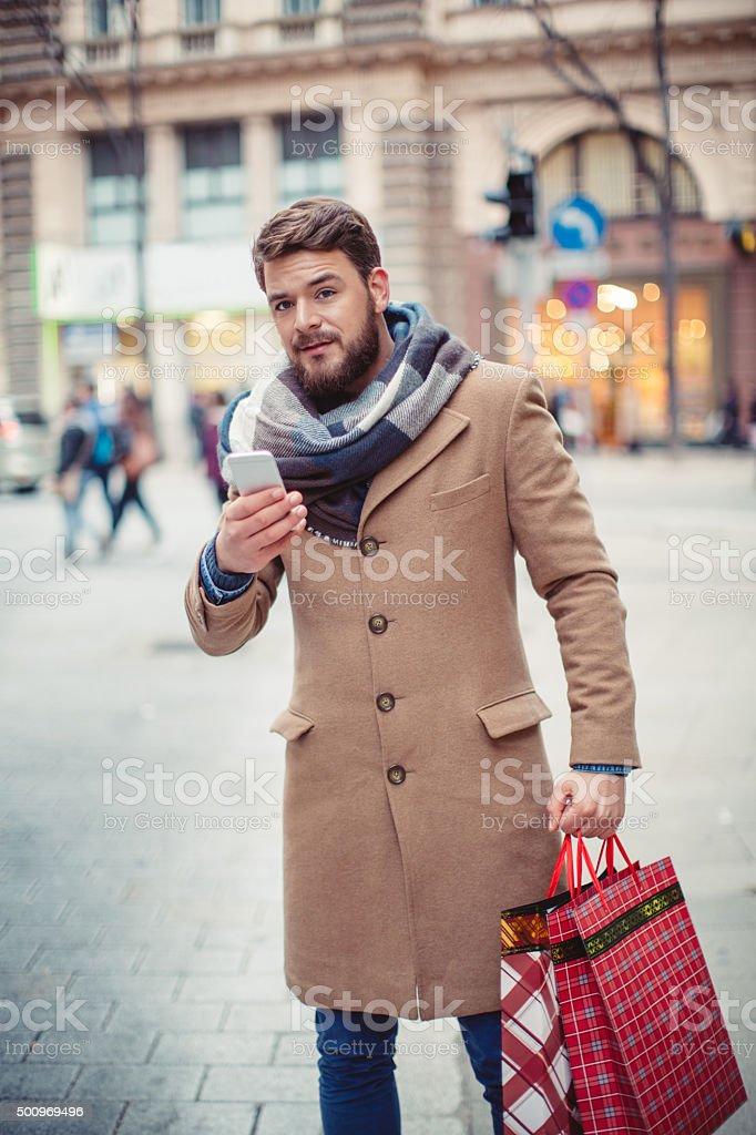 Christmas rush stock photo