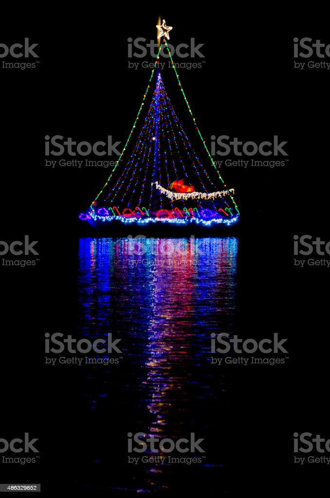 Christmas Sailboat stock photo