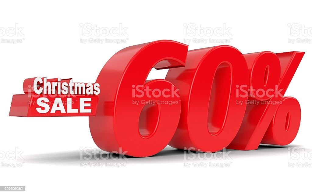 Christmas sale. Discount sixty five percent off stock photo