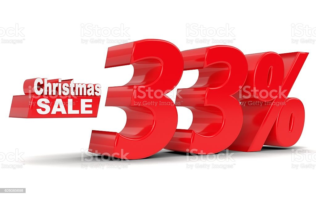 Christmas sale. Discount thirty three percent off stock photo