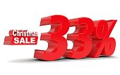 Christmas sale. Discount thirty three percent off
