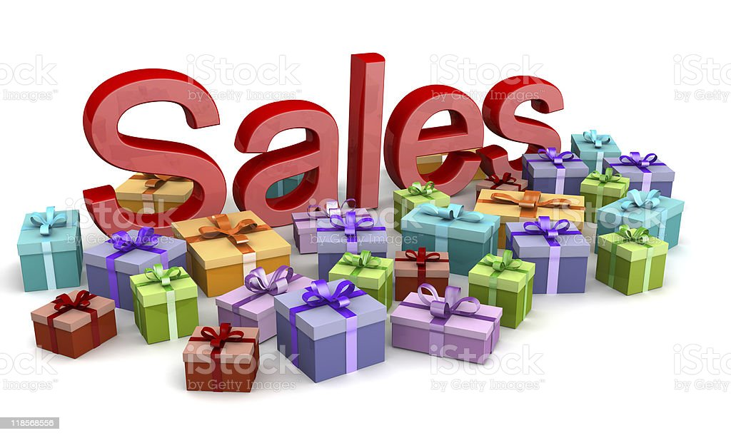 Christmas sales shopping concept royalty-free stock photo