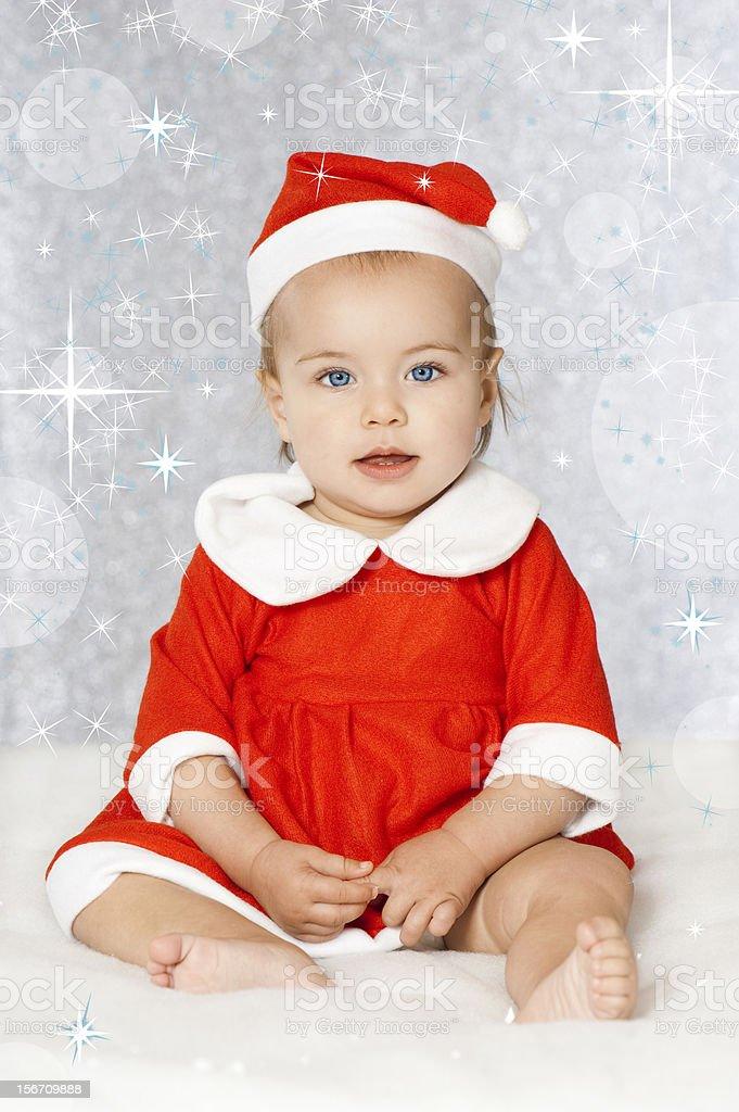 Christmas santa baby stock photo