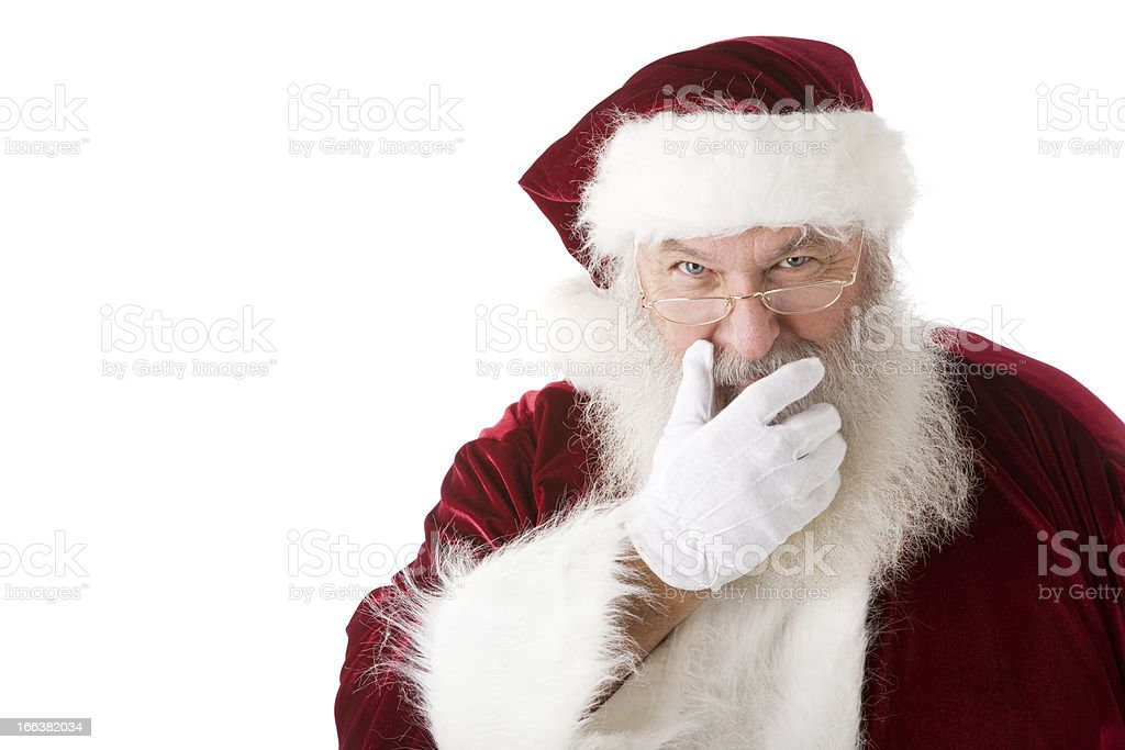 Christmas Santa Claus Season Red White Head Shoulders royalty-free stock photo