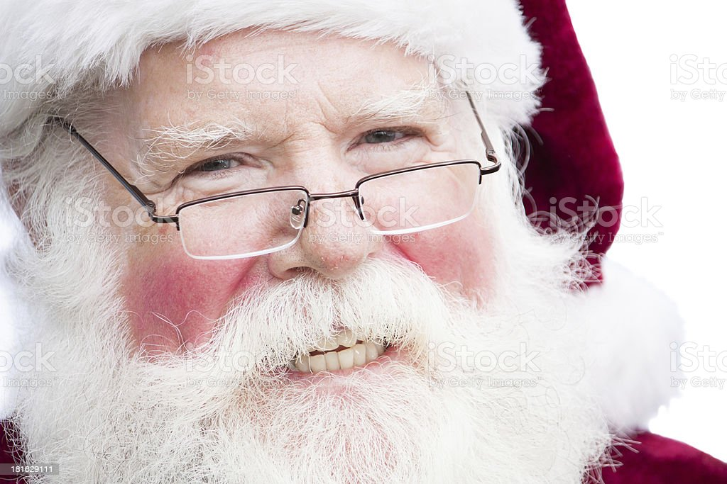 Christmas Santa Claus with specs royalty-free stock photo