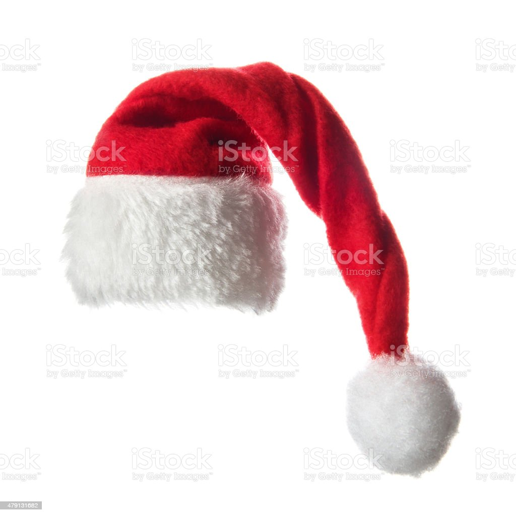 Christmas santa hat,  isolated on white background stock photo
