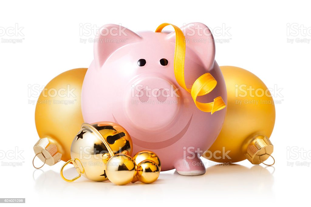 Christmas savings stock photo