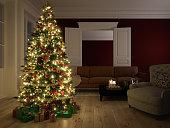 Christmas scene. 3d rendering