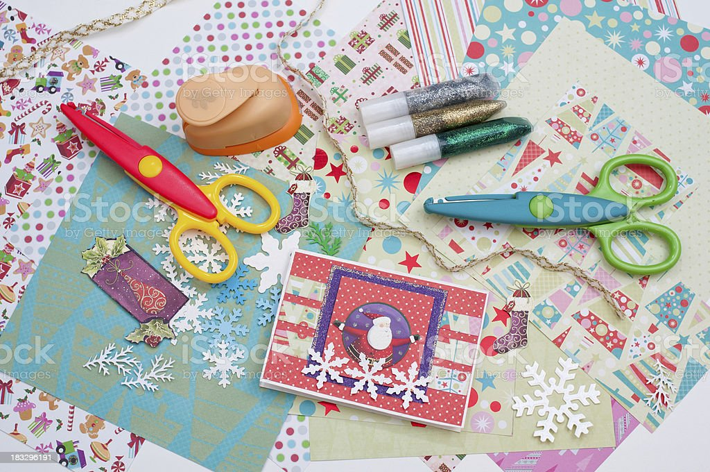 Christmas scrapbooking royalty-free stock photo