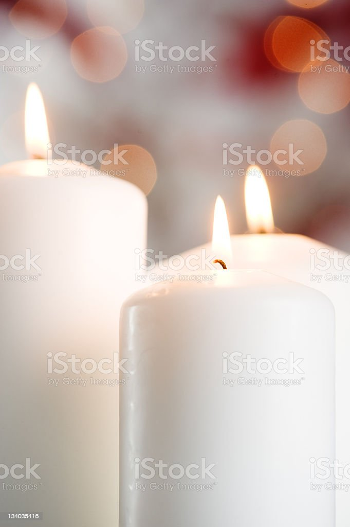 Christmas setting with candles royalty-free stock photo