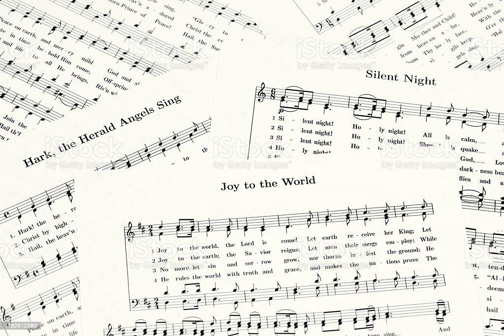 Christmas Sheet Music royalty-free stock photo