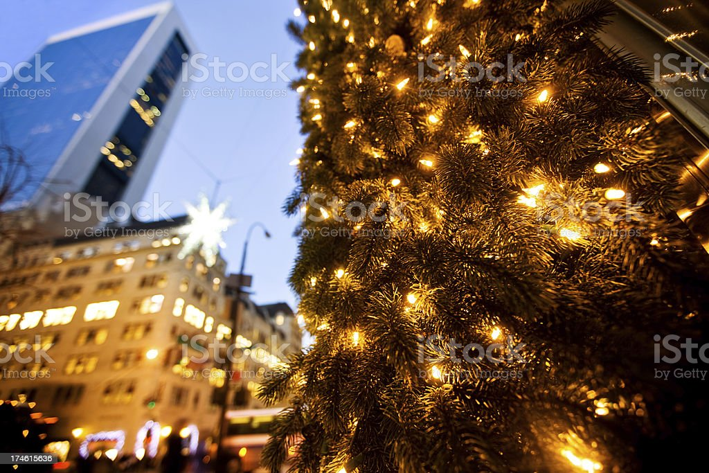 Christmas Shopping 5th Avenue royalty-free stock photo