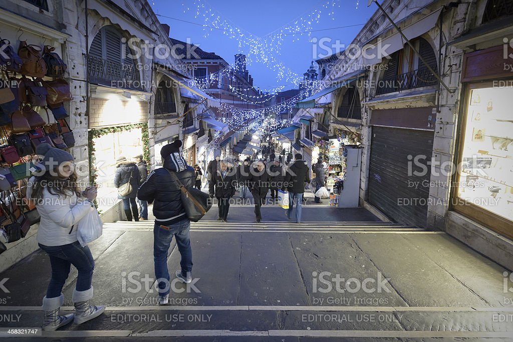 Christmas shopping in Venice royalty-free stock photo