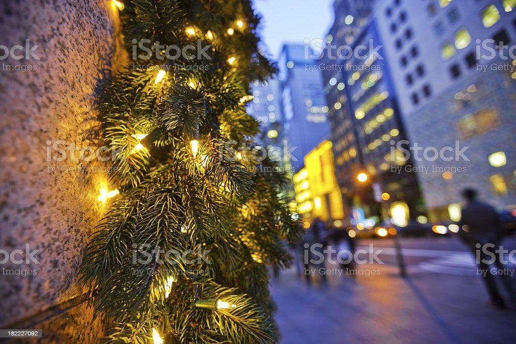Christmas Shopping NYC royalty-free stock photo