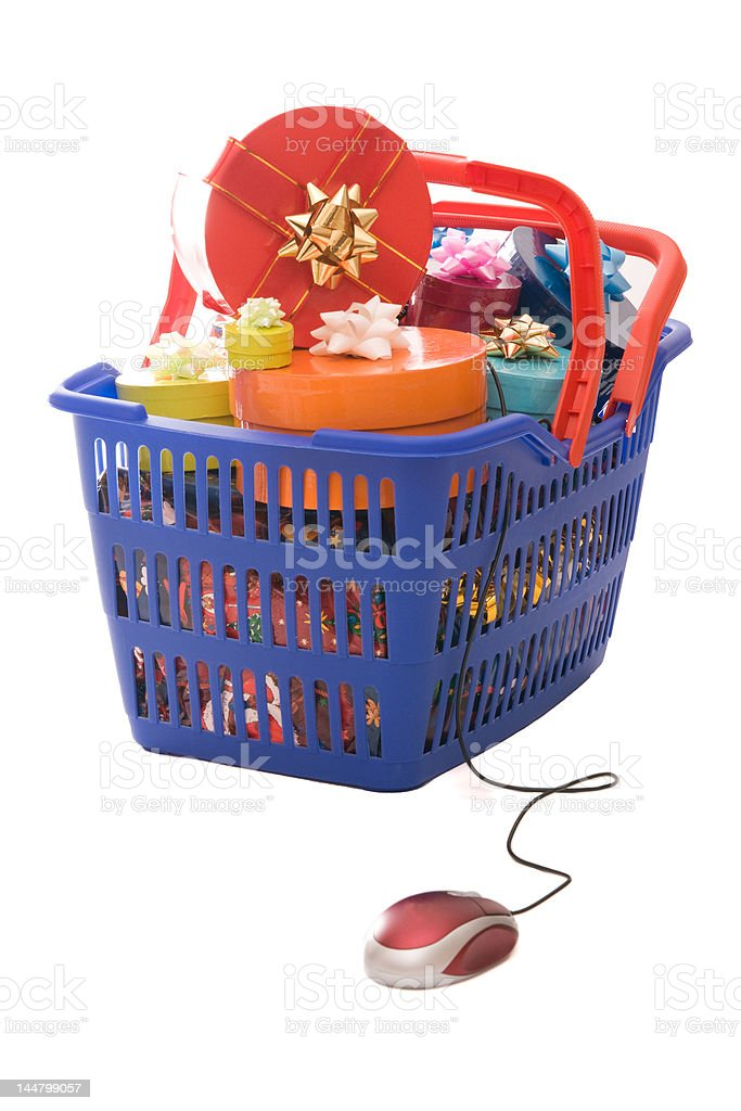 Christmas shopping online royalty-free stock photo