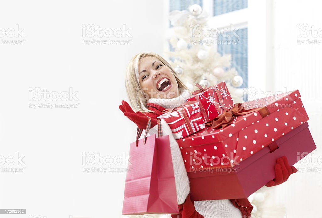 Christmas Shopping royalty-free stock photo