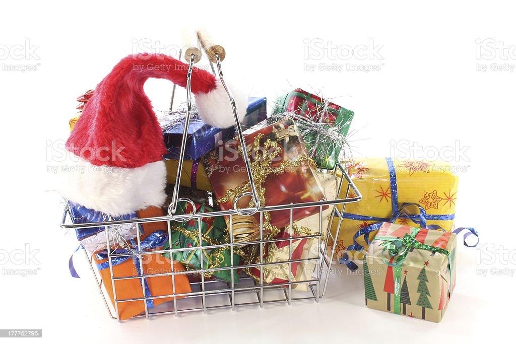Christmas shopping royalty-free stock photo