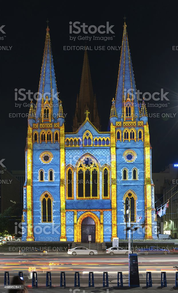 Christmas Show, Saint Paul's Anglican Cathedral, Melbourne, Australia royalty-free stock photo