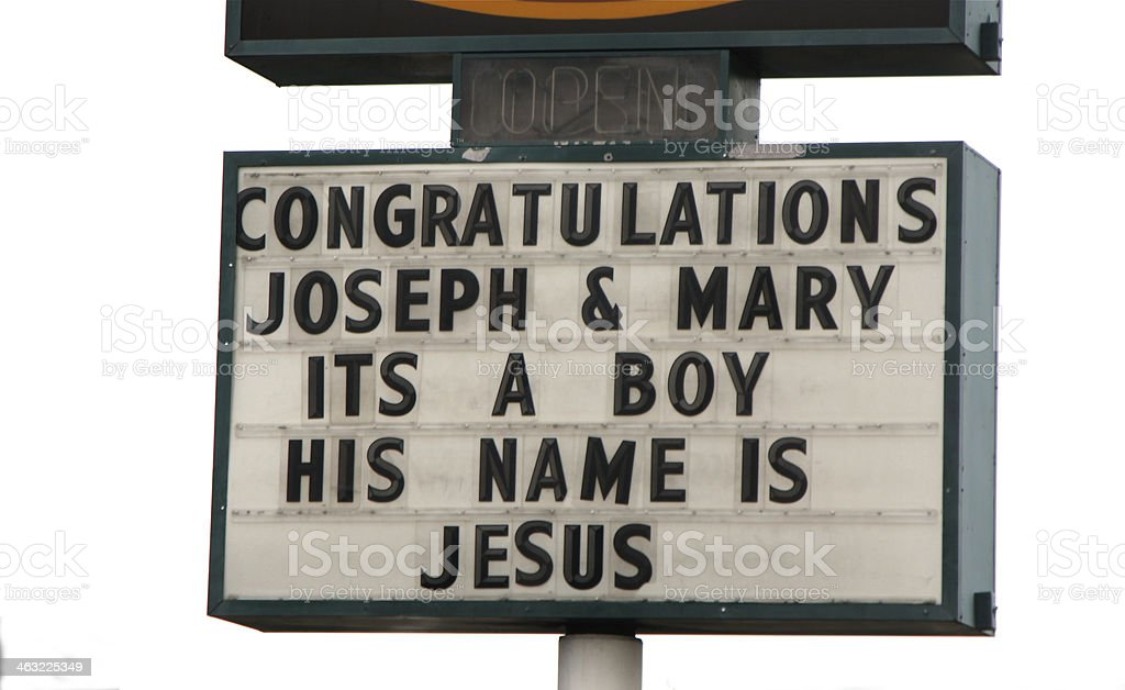 Christmas Sign On Readerboard stock photo