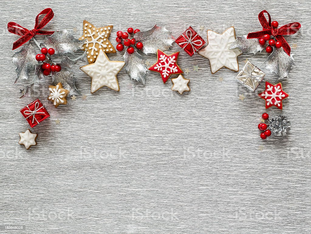 Christmas Silver background stock photo