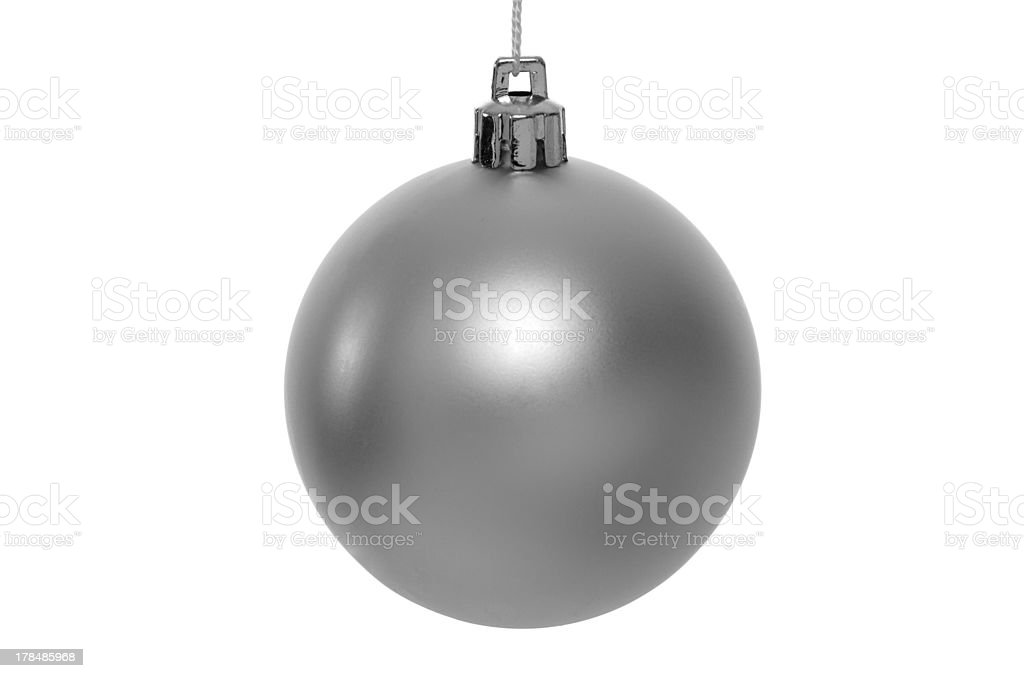 Christmas silver bauble royalty-free stock photo