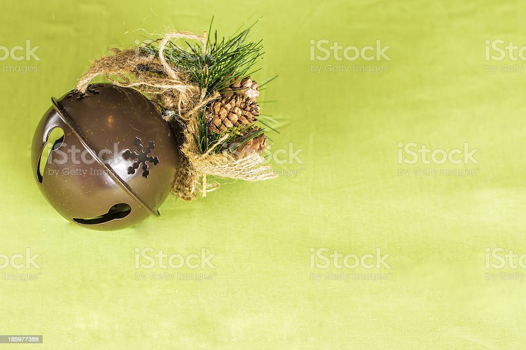 Christmas Sleigh Bell Background stock photo