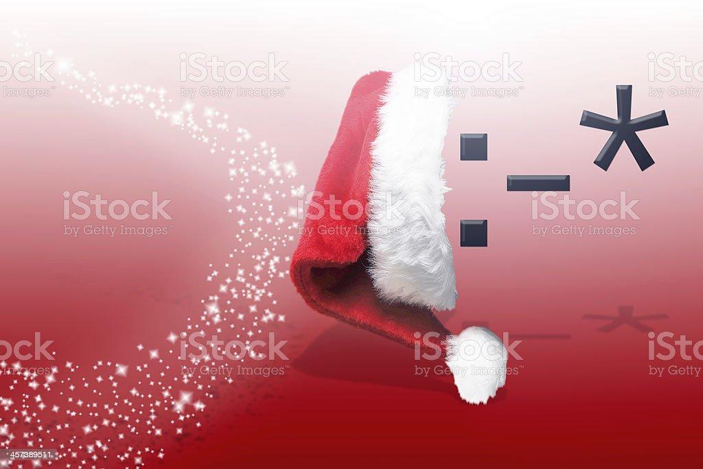 Christmas smiley ''Kiss'' royalty-free stock photo