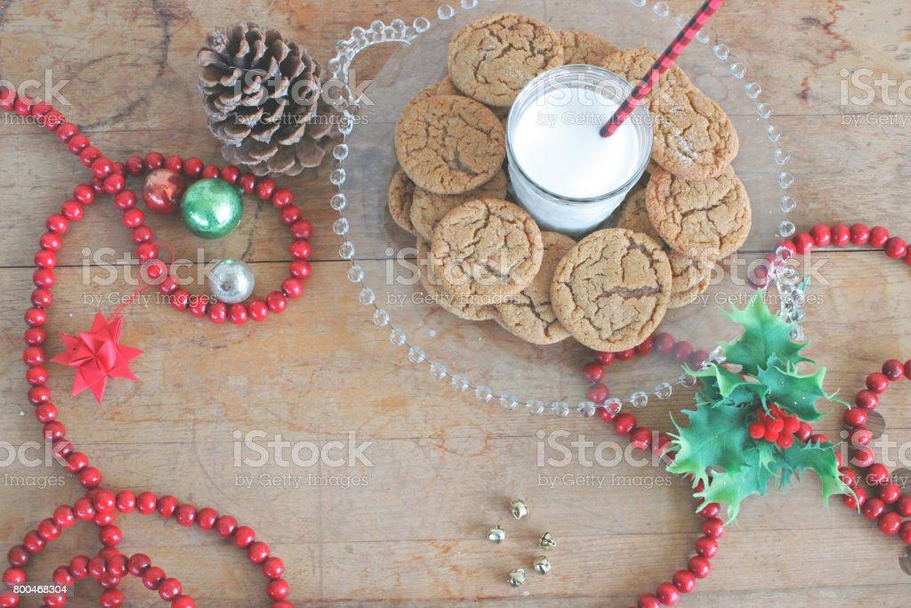 Christmas snacks for Santa stock photo