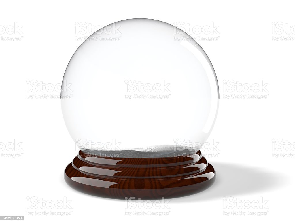 Christmas Snow Globe stock photo