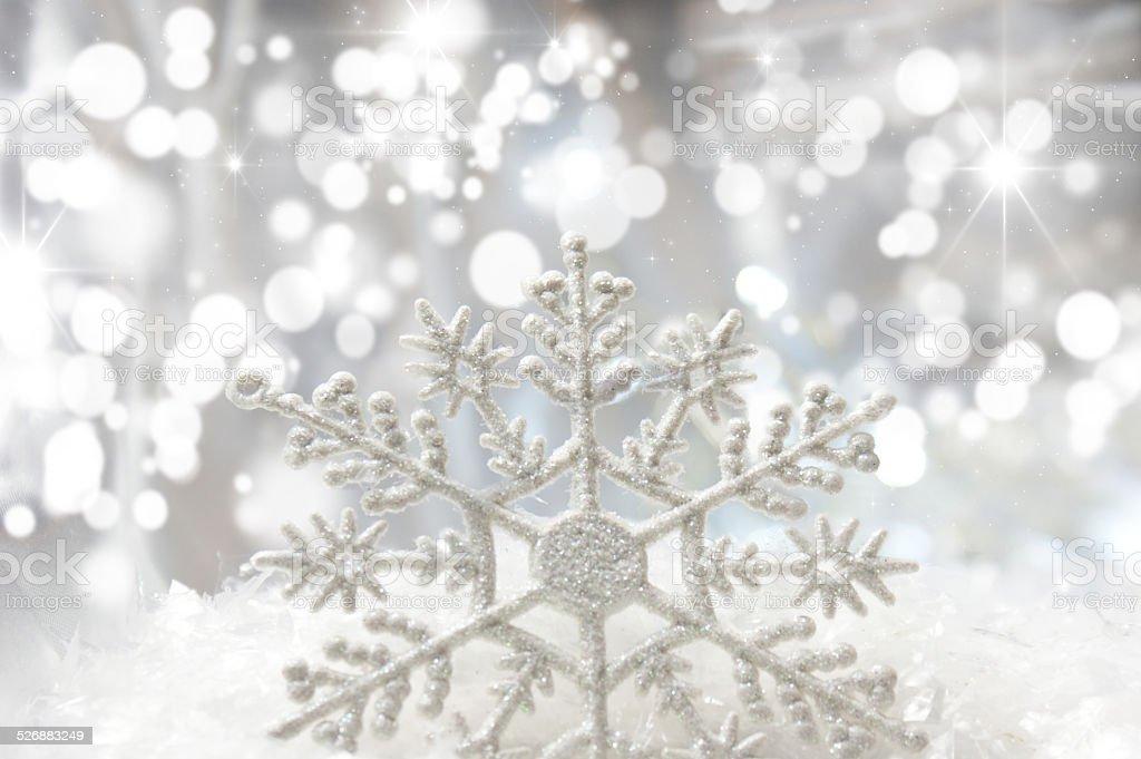 Christmas snowflake stock photo