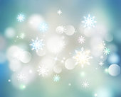 christmas snowflakes blur background.