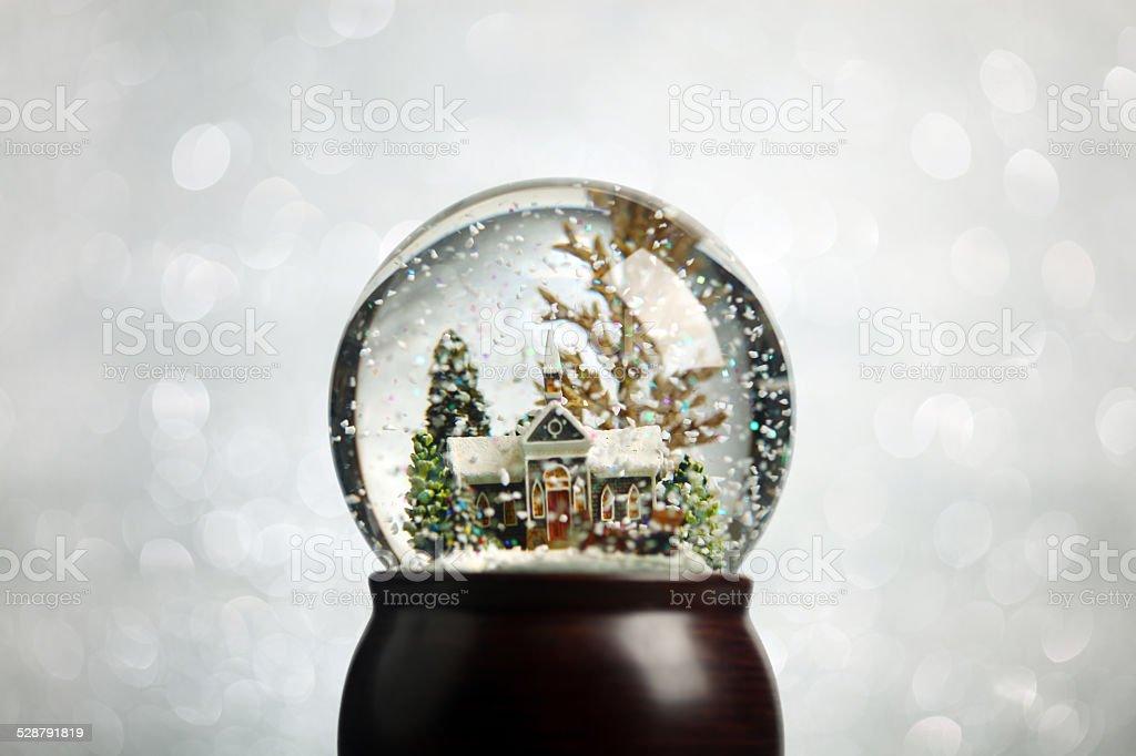Christmas snowglobe stock photo
