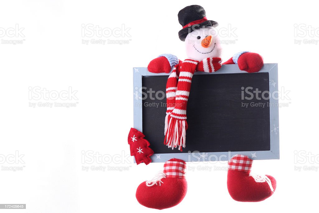 Christmas Snowman Chalkboard royalty-free stock photo