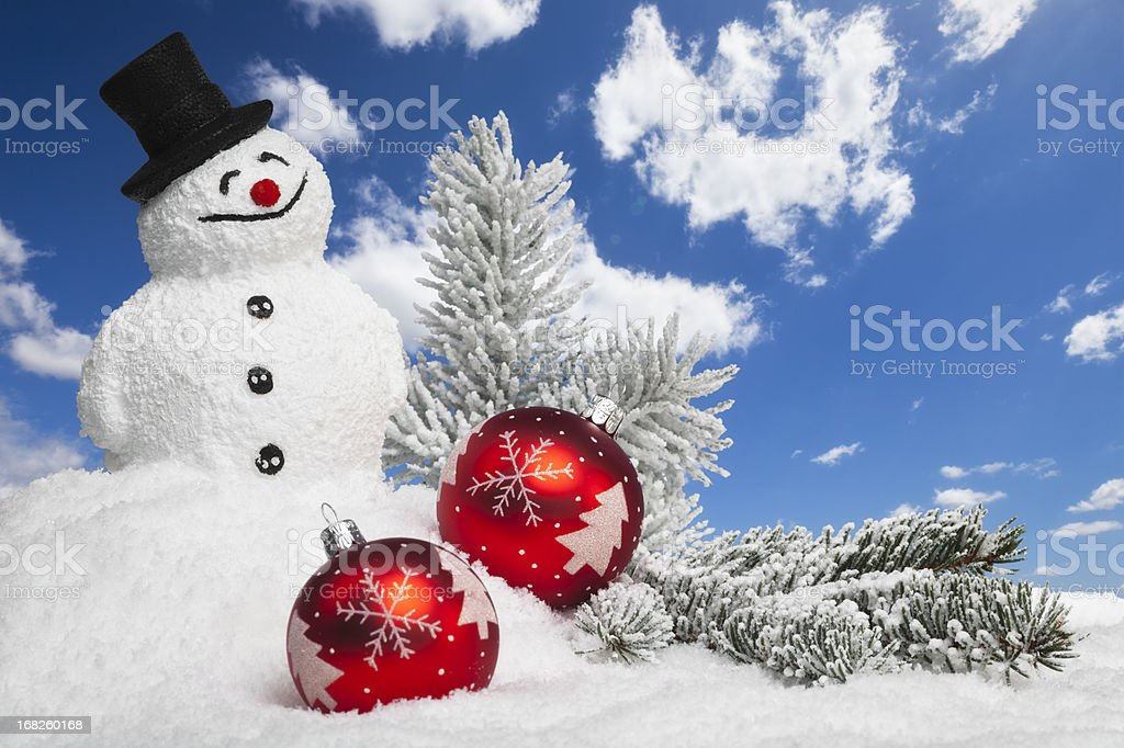 Christmas Snowman royalty-free stock photo