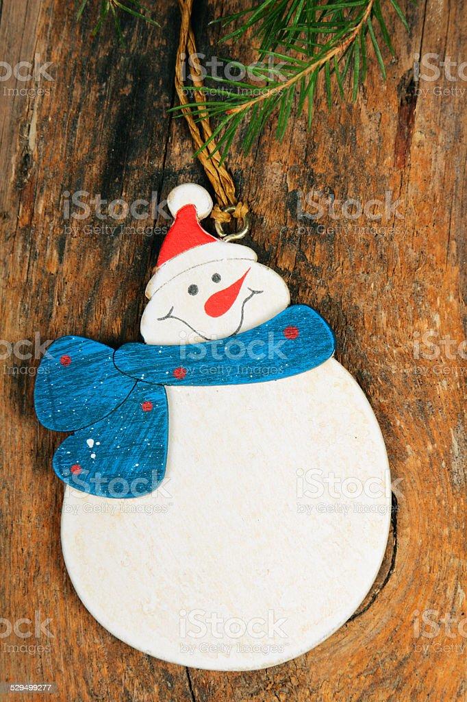 Christmas snowman stock photo