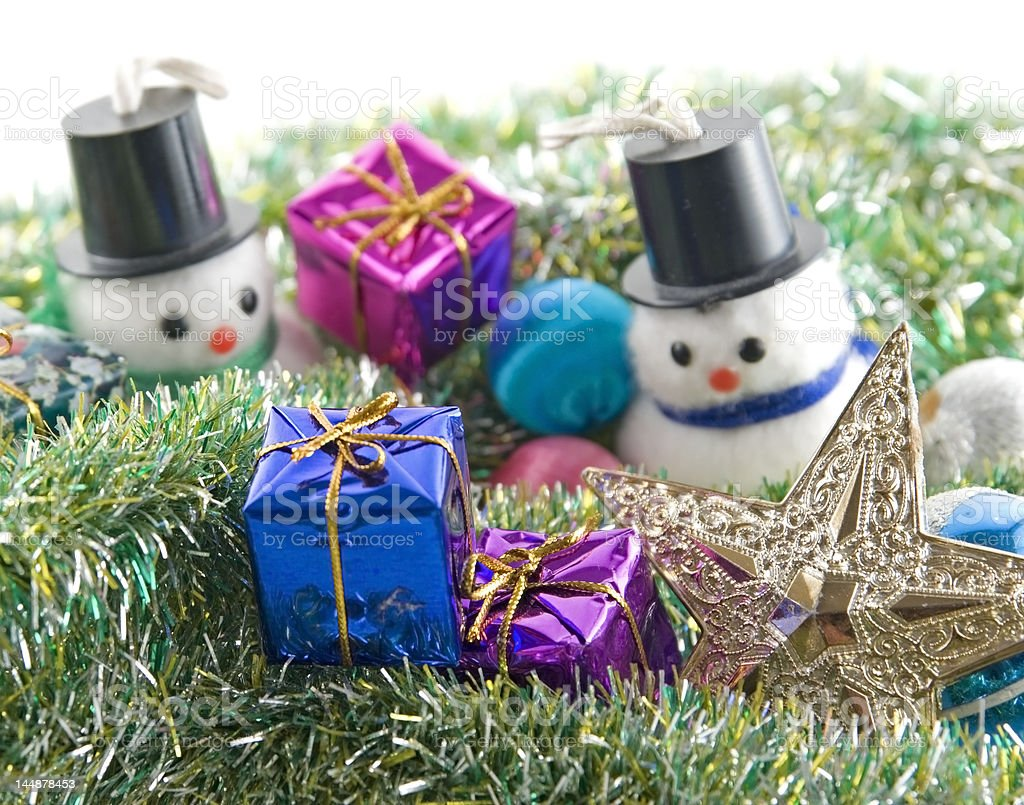 Christmas snowmen royalty-free stock photo