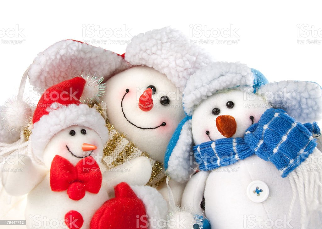 Christmas snowmen stock photo