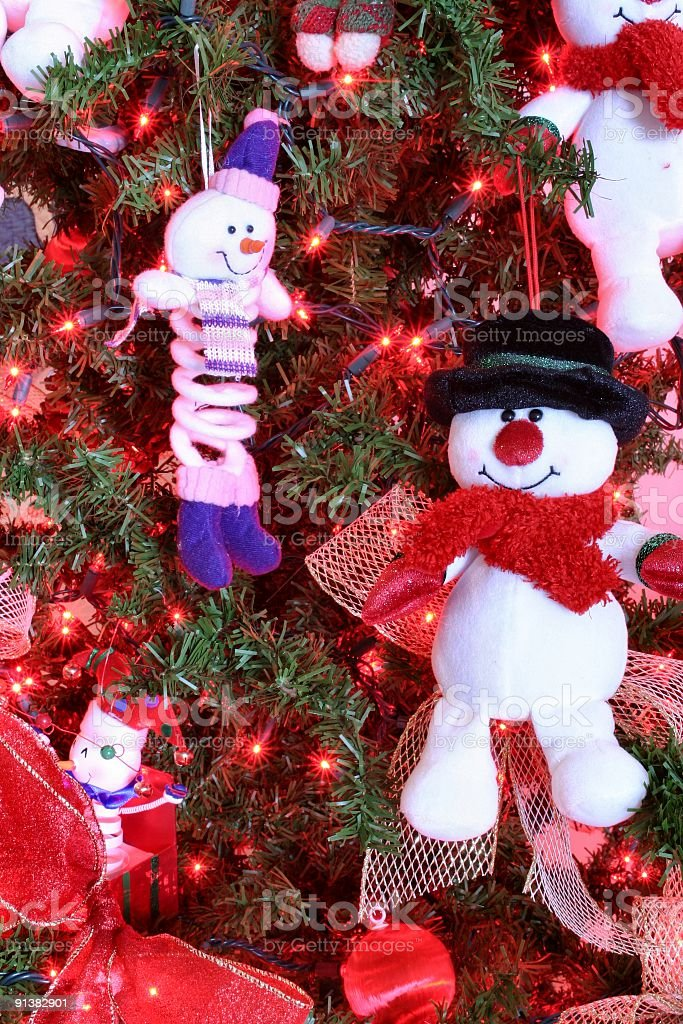 Christmas Snowmen stock photo