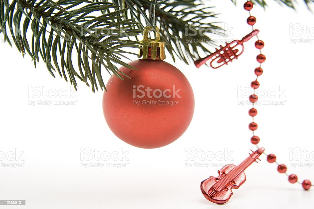 Christmas sphere and chain stock photo
