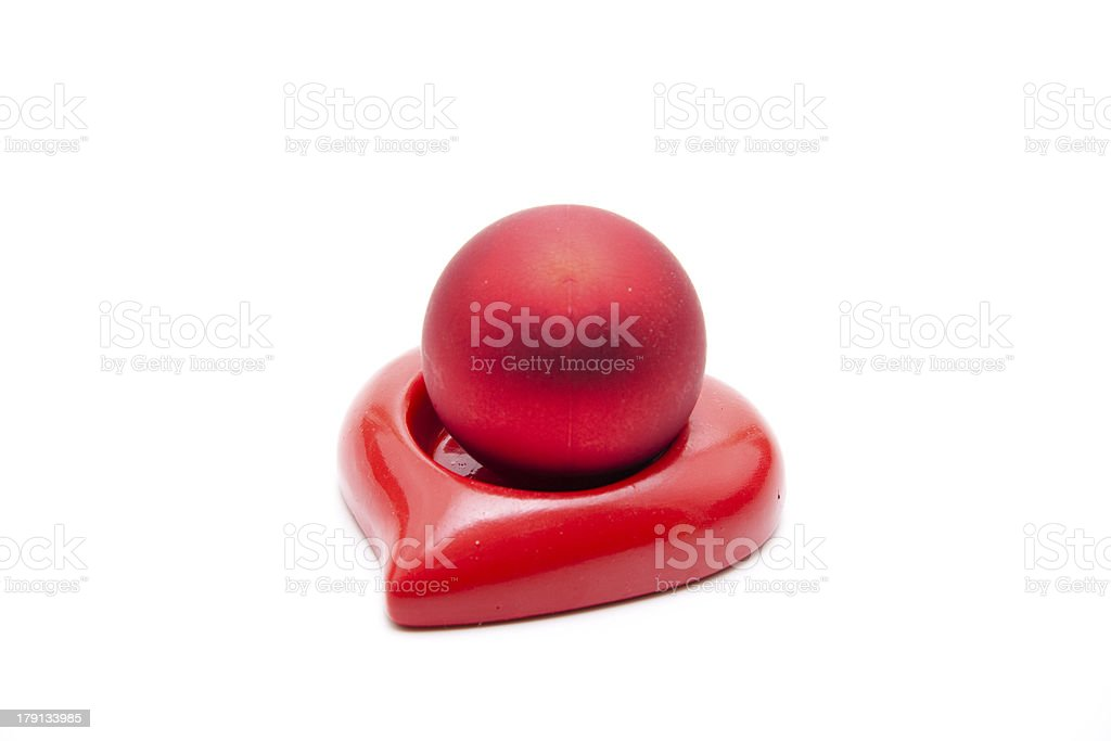 Christmas sphere in the heart stock photo