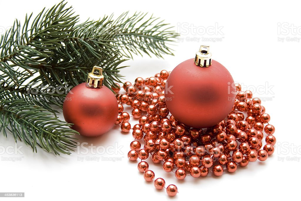 Christmas sphere on chain stock photo