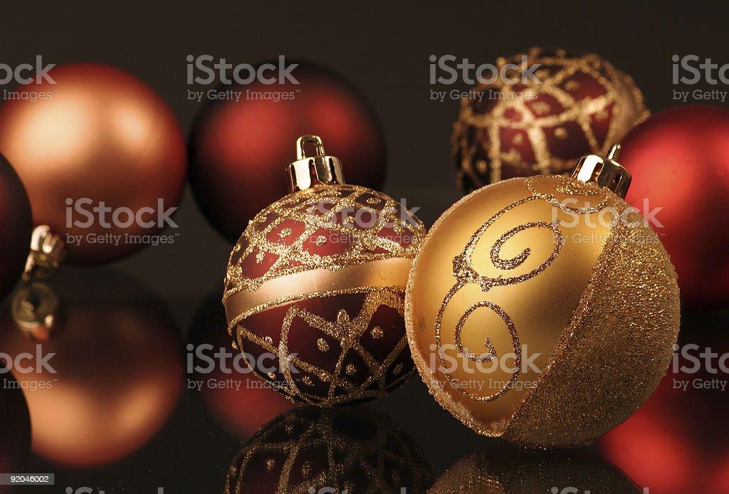 christmas spheres royalty-free stock photo