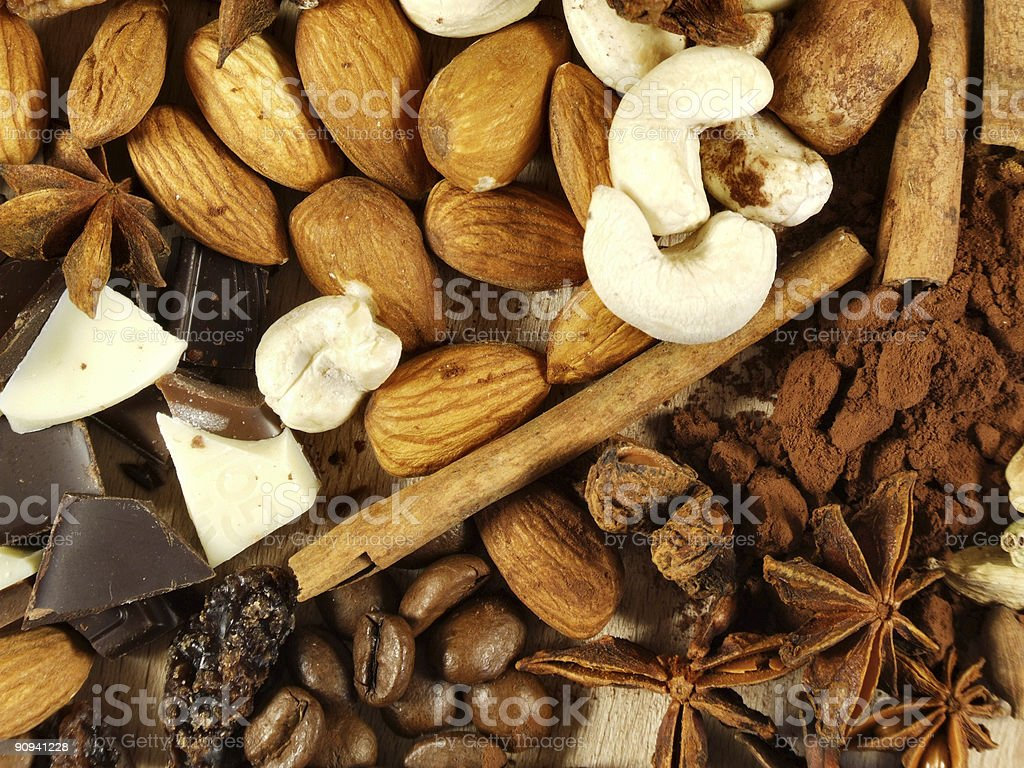 Christmas spices and ingredients royalty-free stock photo