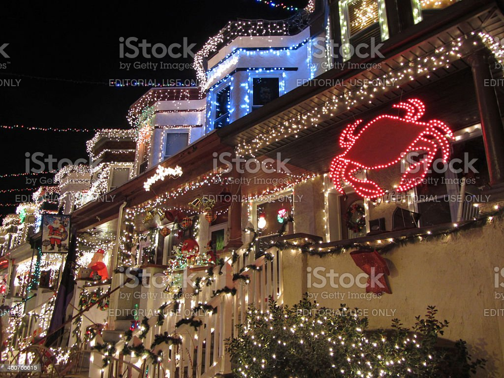 Christmas Spirit in Hampden Baltimore stock photo