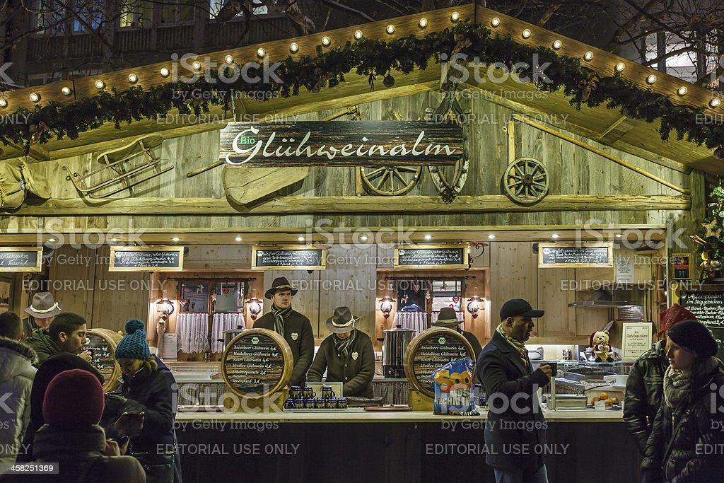 Christmas Stall, Munich royalty-free stock photo