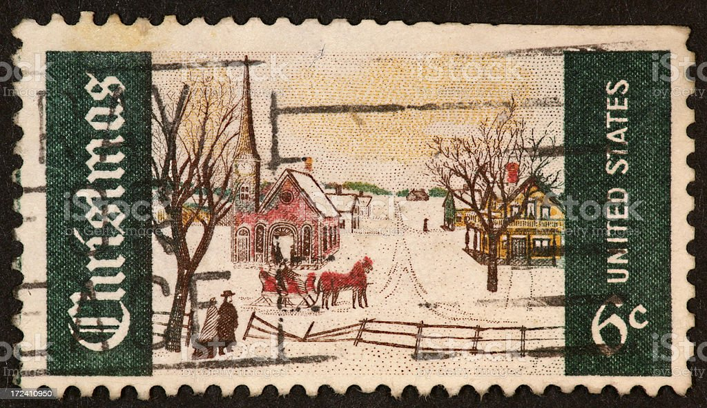Christmas stamp 1968 royalty-free stock photo