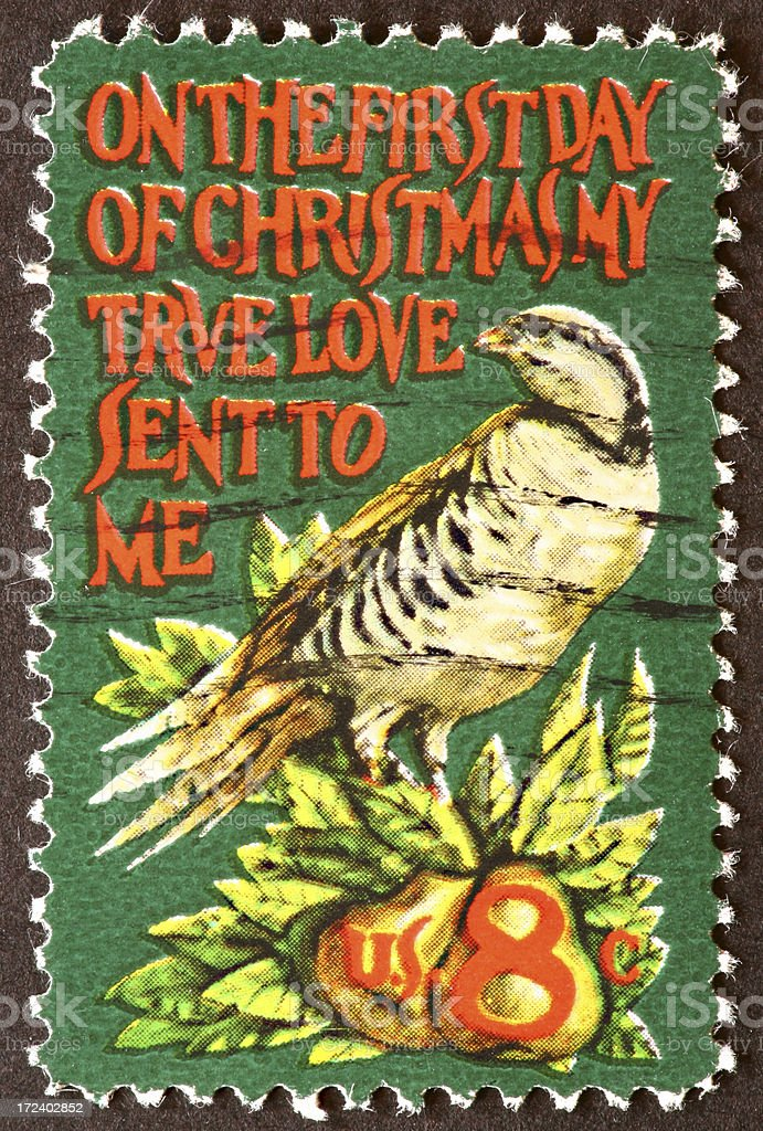 Christmas stamp stock photo