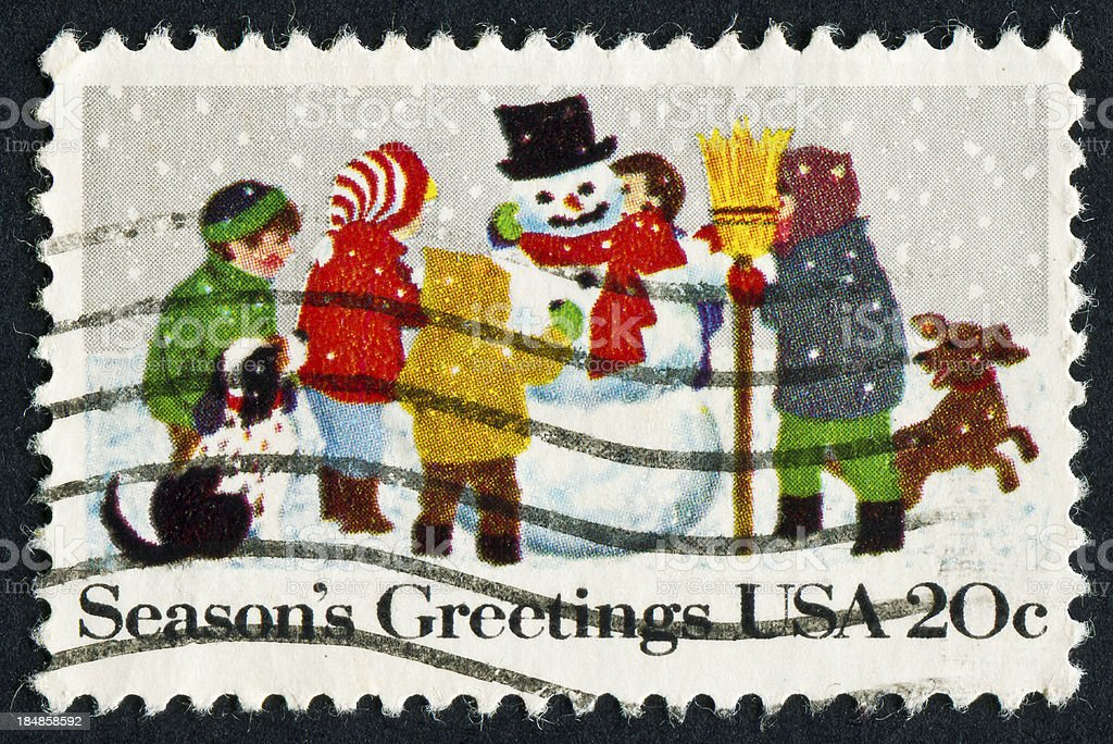 Christmas Stamp royalty-free stock photo