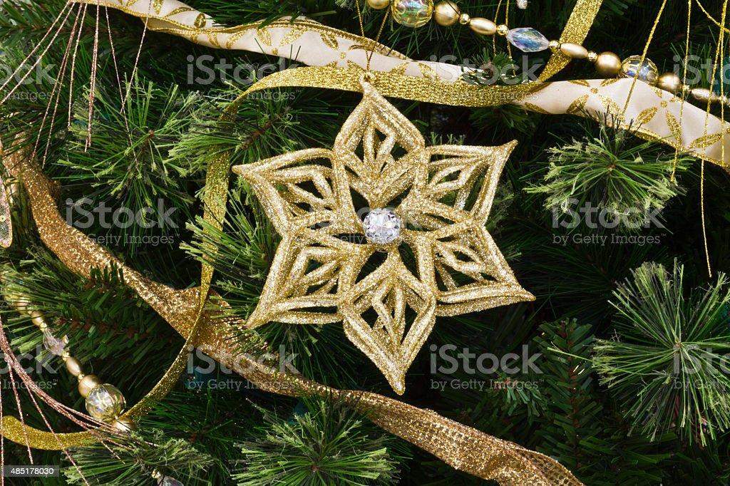 Étoile de Noël et petit SAPIN photo libre de droits